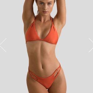 Gigi C orange bikini large top medium bottoms